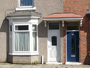 The humble terraced house at 20 Bell Street, Middlesbrough - birthplace of Don Revie